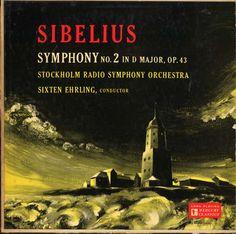 Sixten Ehrling, Stockholm Radio symphony Orchestra- Sibelius: Symphony label: Mercury MG Design: George Maas. Mercury Records, Record Art, 1950s Design, Conductors, Classical Music, Orchestra, Stockholm, Nostalgia, Books