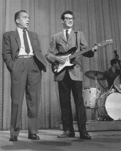 Buddy Holly was born today 9-7 in 1936 - here he is with The Crickets on their 1958 Ed Sullivan Show appearance.