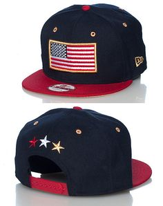 NEW ERA USA flag snapback cap Adjustable strap on back Embroidered flag on  front Jimmy Jazz 462a922a5248