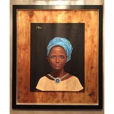 """""""Duma Afryki""""  Olej na płótnie oprawiony w podwójną ramę.  Wymiary płótna : 40cm x 50cm.  Wymiary z ramą : 66cm x 76cm.  Obraz malowany ręcznie wysokiej jakości farbami, zabezpieczony werniksem."""