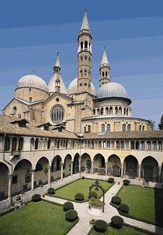 Basilica di Sant'Antonio, Padua, built in the 1200s; Padua is world-famous for it's medieval art
