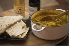 Craig's Grape Adventure: Curried Chicken and Potato Roti Paired with Chenin Blanc