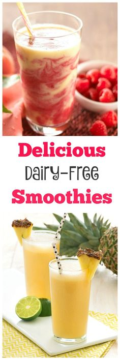 Delicious Dairy-Free Smoothies - looking for a healthy recipe to make life a little easier? These delicious dairy free smoothies are perfect for a snack, or as part of a meal. Full of fresh ingredients your family will love.