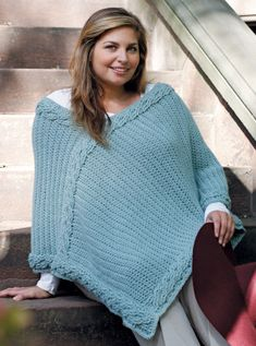 Image of Curvy Girl Intertwined Poncho