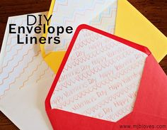 project 17 of 33 : diy envelope liners.