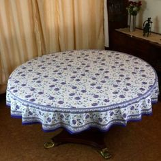 Amazon.com: Indian Round Tablecloth 70 Home Decor Spring Floral Cotton: Home & Kitchen