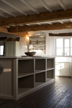 This kitchen is painted in deVOL's 'Mushroom' paint colour with Silestone worktops, a perfect combo. Shaker Style Kitchen Cabinets, Shaker Style Kitchens, Kitchen Cabinet Styles, Shaker Kitchen, Kitchen Paint, New Kitchen, Kitchen Design, Devol Kitchens, Home Kitchens