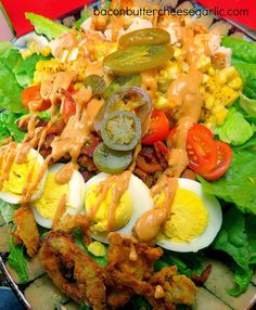BBQ Ranch Chicken Cobb Salad...sounds like a strange combination, but it's fabulous!