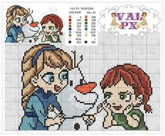 Elsa and Anna - Frozen perler bead pattern