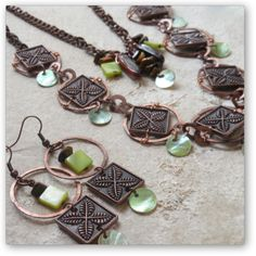 """One-of-a-Kind """"Cocoa"""" Jewelry Set - Designed by Belle Bijou: http://www.bellebijoujewelry.com/store/detail/index.html#cid=194054"""