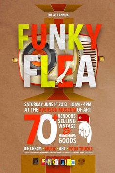flea market poster design