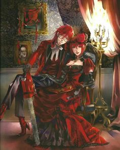Black Butler kuroshitsuji grell and madam red