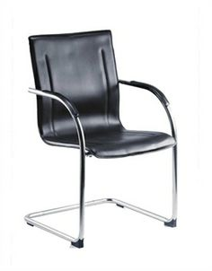 Guest Chrome Visitors Chair Reception Seating Office Stylish Furniture
