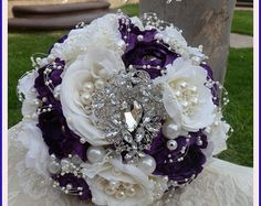 RUSTIC COUNTRY GLAM Wedding Bouquet Deposit by Elegantweddingdecor