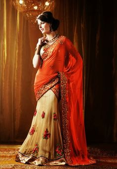 Half sari is a traditional attire in south for unmarried girls and it is The Next Big Indian Leap into the World of International Fashion trend. Source: fashionlady.in