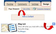 Blogger Menüs bearbeiten