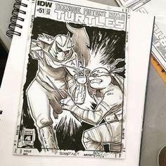 @bishart does an awesome #tmnt #sketch for @bctc2016 2016! #art #drawing #artist #illustration #draw #artwork #original #sketchbook #artsy #comics #arts #sketching #drawings #comic #starwars #batman #dc #marvel #superman #hero #spiderman #dccomics #joker #twd #superhero #harley #manga #anime Contact artist for pricing info! by comicconsketches