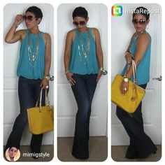 #repost from @mimigstyle Today's Look www.mimigstyle.com #michaelkors #guessjeans #forever21#instarepost20