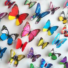 12PCS/Lot DIY Wall Sticker Decals 3D Butterfly Wall Stickers Home Decor Stickers Muraux Adesivo De Parede Pegatinas De Pared