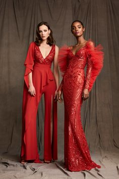 Zuhair Murad Pre-Fall 2020 Fashion Show - Zuhair Murad Pre-Fall 2020 Collection – Vogue - Estilo Fashion, Red Fashion, Fashion 2020, Couture Fashion, Runway Fashion, High Fashion, Fashion Show, Fashion Dresses, Fashion Design