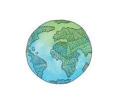 Imagen de overlay, world, and blue