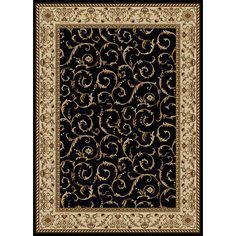 idea for an area rug...going for dark browns, black, gold, ivory, and red accents