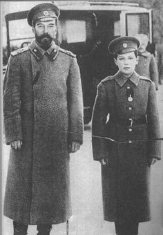Tsar Nicholas II and Tsarevich Alexei shortly before the Revolution