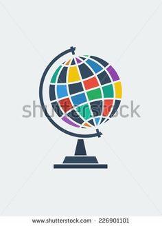 Vector globe icon. - stock vector