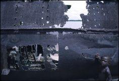 Rene Burri FRENCH GUIANA. Boat sheleton along the Maronie river. 1984.