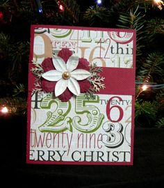 Lovely Handmade Red White and Green Christmas Card Blank Inside | LilBitOLove - Cards on ArtFire  #bmecountdown