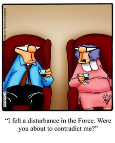 Spectickles: I felt a disturbance in the Force. Were you about to contradict me?