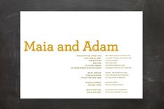 Something Bookish Wedding Invitations by Candice Leigh at minted.com