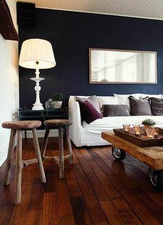 AuBergewohnlich Wände Streichen Farbideen Holzmöbel