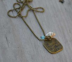 """Min Favorit """"Dreaming of the Sea"""" Pacific Blue Opal & Sea Shell Charm Necklace - Updated!  EBAY"""