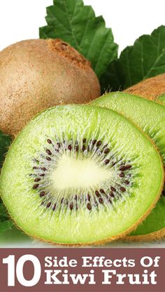 Kiwi is a widely popular fruit that has a high reserve of vitamin C. Here are 10 unexpected kiwi fruit side effects that one should be aware of before its consumption Kiwi Fruit Benefits, Kiwi Health Benefits, Herbal Remedies, Natural Remedies, Low Fat Protein, Body Detoxification, Health Trends, Natural Health Tips, Eating Organic