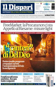 La copertina del 14 ottobre 2015 #ischia #ildispari