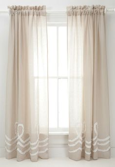 Pine Cone Hill Ruched Linen Platinum White Window Panel Grayce LOVE these curtains! Home Decor Styles, Home Decor Items, Home Decor Accessories, Cheap Home Decor, Window Panels, Window Coverings, Window Treatments, Window Hanging, Curtain Panels