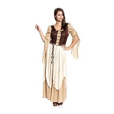 Dark Dreams Gothic Mittelalter LARP Kleid Gewand Bluse Mieder Rock Schankmaid II, Größe:L/XL, Farbe:schwarz/rot