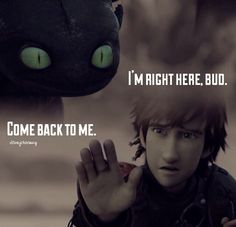 This moment was SO SAD and beauty at The same Time cauz' Toothless is not himself and try to go back near his best friend Dragons , you will Kill me If you continue like that