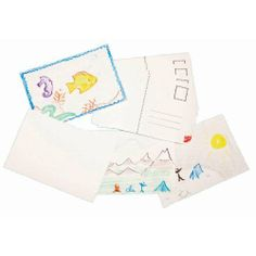 Design-A-Postcard - 24 per pack by SmileMakers Inc. $4.99. Design-A-Postcard - 24 per pack. Authentic Die-Cut Edges Give This Craft An Aura Of By-Gone Days. Use With Crayons, Markers And Pens. Collage Or Decoupage Them.