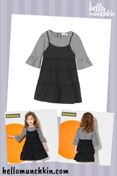 20f22f6847 Balabala toddler girls a-line cotton dress. Knee length and with three  quarter flare