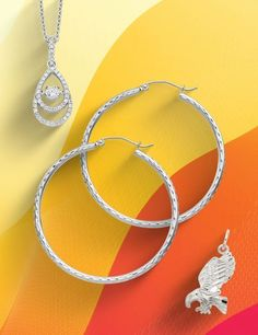 Freshen up your summer wardrobe with fashionable and best-selling Sterling Silver styles. Stock up today: #QualityGold #jewelry #SummerFashion #SterlingSilverJewelry #SilverStyles #SilverPendant #HoopEarrings #SterlingSilver #EaglePendant