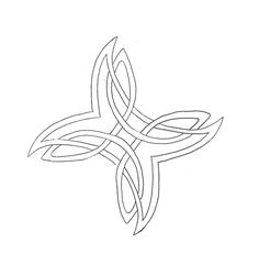 celtic stencil, now do same with two hearts