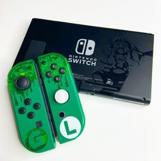 Your place to buy and sell all things handmade Consoles, Preston Playz, Green Warriors, Nintendo Switch Case, Nintendo Switch Accessories, Xbox One Skin, Luigi's Mansion, Video Game Rooms, Kawaii Room