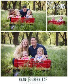Red Wagon Family Photo - Ryan Greenleaf Photography Blog