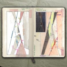 rougart drawing: RIVER SERIES VI (Study on steel plates)_Collage, 2015_Mariasun Salgado