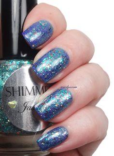 xoxo, Jen: Shimmer Polish Jasmine  | See more at http://www.nailsss.com/colorful-nail-designs/2/