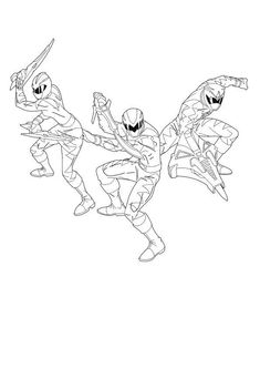 8 Best Power Rangers Samurai Coloring Sheets images
