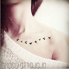 Schwalben Vögel kleine InknArt Temporary Tattoo von prosciuttojojo
