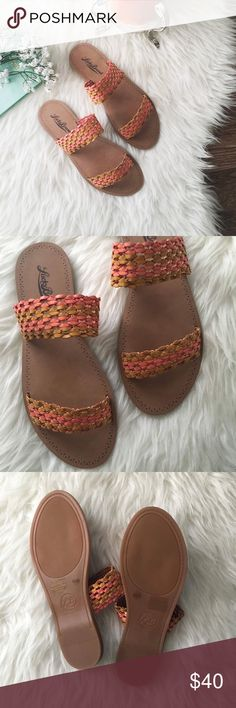 nwt//lucky brand • alddon huarache sandals 🛍: lucky brand  ▫️the Alddon huarache sandals in beechwood pepper color ▫️two woven straps  ▫️manmade footbed and outsole ▫️size: 6.5 M ▫️condition: new with box   •please read description & ask questions before purchasing• •no trades• Lucky Brand Shoes Sandals